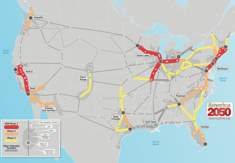 Map Of America 2050.Where High Speed Rail Works Best Jill Saligoe Simmel Ph D