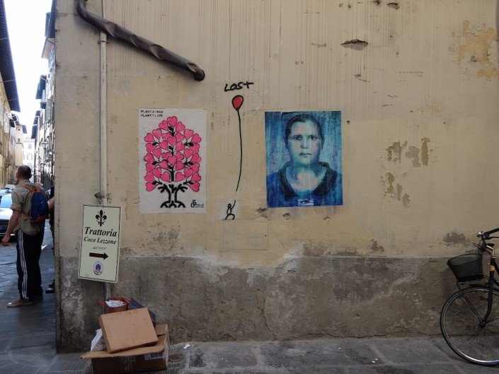 Florence Italy street art - lost